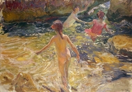The Bath painting reproduction, Joaquin Sorolla