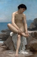 The Bather painting reproduction, William A. Bouguereau