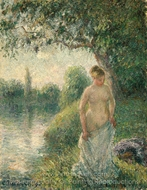 The Bather painting reproduction, Camille Pissarro