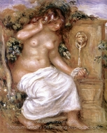 The Bather at the Fountain painting reproduction, Pierre-Auguste Renoir