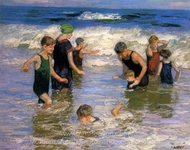 The Bathers painting reproduction, Edward Henry Potthast