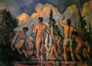 The Bathers painting reproduction, Paul Cézanne