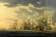 The Battle of Cape St. Vincent, 14 February 1797 painting reproduction, Robert Cleveley