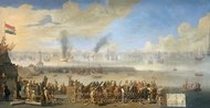The Battle of Livorno Leghorn painting reproduction, Johannes Lingelbach