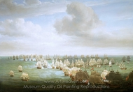 The Battle of Trafalgar, 21 October 1805: Beginning of the Action painting reproduction, Nicholas Pocock