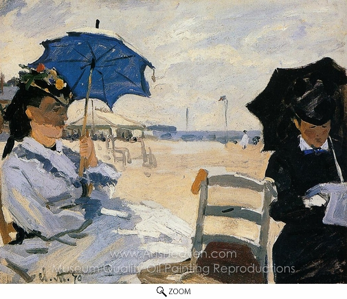 Claude Monet, The Beach at Trouville oil painting reproduction