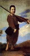 The Beggar Known as the Club-Foot painting reproduction, Jusepe De Ribera