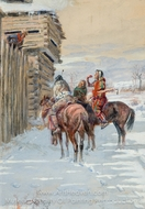 The Beggars painting reproduction, Charles Marion Russell
