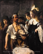 The Beheading of John the Baptist painting reproduction, Rembrandt Van Rijn