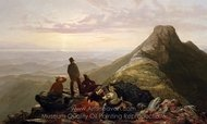 The Belated Party on Mansfield Mountain painting reproduction, Jerome B. Thompson