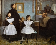 The Bellelli Family painting reproduction, Edgar Degas