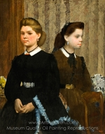 The Bellelli Sisters (Giovanna and Giuliana Bellelli) painting reproduction, Edgar Degas