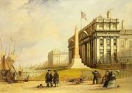 The Bellot Memorial at Greenwich Hospital painting reproduction, George Chambers Senior