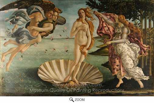 Sandro Botticelli, The Birth of Venus oil painting reproduction