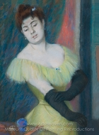 The Black Gloves painting reproduction, Federico Zandomeneghi