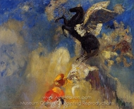 The Black Pegasus painting reproduction, Odilon Redon