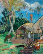 The Black Pigs painting reproduction, Paul Gauguin