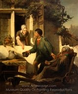 The Blind Beggar painting reproduction, Sir Lawrence Alma-Tadema