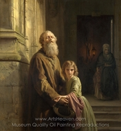 The Blind Beggar painting reproduction, Josephus Laurentius Dyckmans