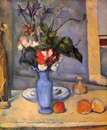 The Blue Vase painting reproduction, Paul Cézanne