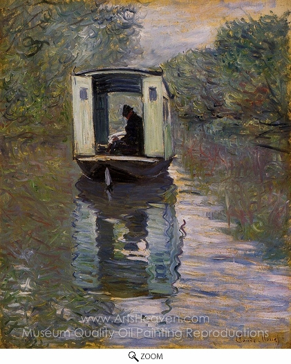 Claude Monet, The Boat Studio oil painting reproduction