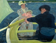 The Boating Party painting reproduction, Mary Cassatt