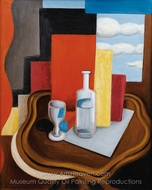 The Bottle and Glass at Louis-Philippe Table painting reproduction, Roger De La Fresnaye
