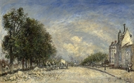 The Boulevard de Port-Royal, Paris painting reproduction, Johan Barthold Jongkind