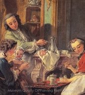 The Breakfast painting reproduction, Francois Boucher