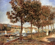 The Bridge at Argenteuil in Autumn painting reproduction, Pierre-Auguste Renoir