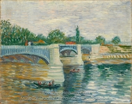 The Bridge at Courbevoie painting reproduction, Vincent Van Gogh