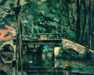 The Bridge at Maincy painting reproduction, Paul Cézanne
