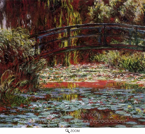 Claude Monet, The Bridge Over the Water-Lily Pond oil painting reproduction
