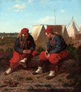 The Brierwood Pipe painting reproduction, Winslow Homer