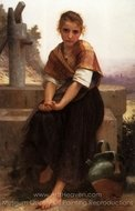 The Broken Pitcher painting reproduction, William A. Bouguereau