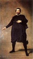 The Buffoon Pablo de Valladolid painting reproduction, Diego Velazquez