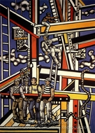 The Builders painting reproduction, Fernand Leger