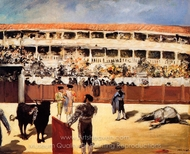 The Bullfight painting reproduction, Édouard Manet