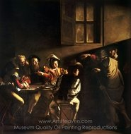 The Calling of Saint Matthew painting reproduction, Caravaggio