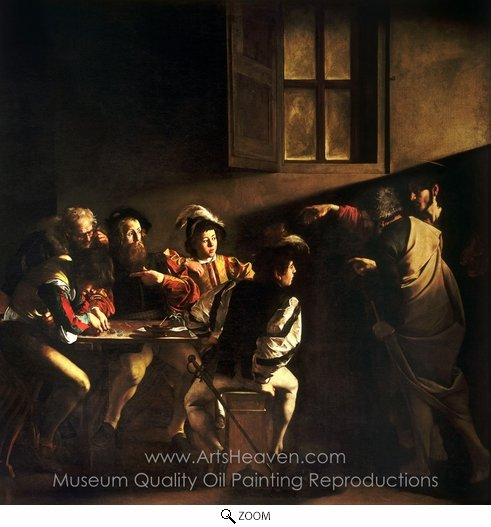 Caravaggio, The Calling of Saint Matthew oil painting reproduction