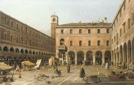 The Campo di Rialto painting reproduction, Canaletto