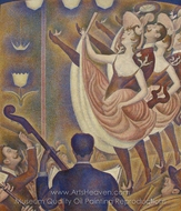 The Can-Can painting reproduction, Georges Seurat