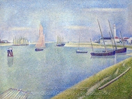 The Canal of Gravelines, in the Direction of the Sea painting reproduction, Georges Seurat