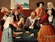 The Card Players painting reproduction, Lucas Van Leyden