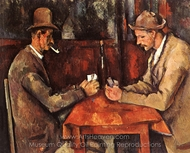 The Card Players painting reproduction, Paul Cézanne