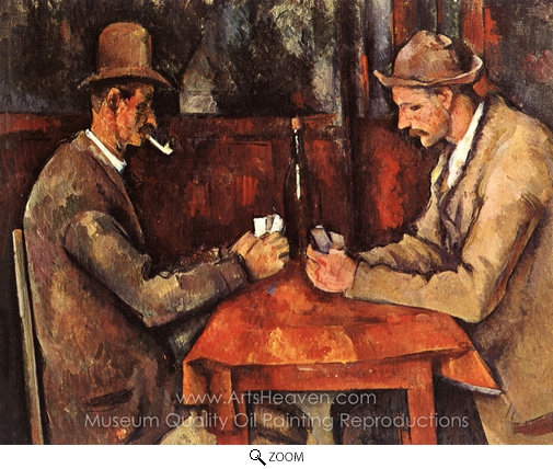 Paul Cézanne, The Card Players oil painting reproduction