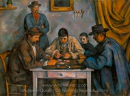 The Card Players II painting reproduction, Paul Cézanne