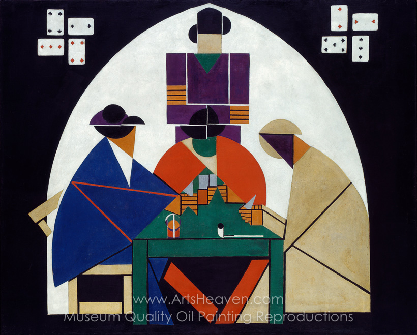 Reproduction Painting Theo Van Doesburg The Cardplayers Hand - Who painted the card players