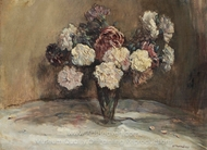The Carnations painting reproduction, Jean-Francois Raffaelli