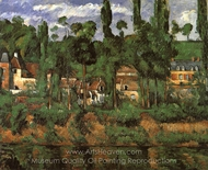 The Castle of Medan (The Home of Zola) painting reproduction, Paul Cézanne